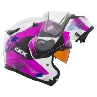Шлем снегоходный модулярный CKX M710 PINK FLAKE EDL